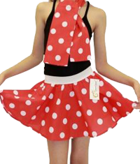 Girls Polka Dot Skirts