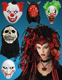 Halloween Scary Wigs and Masks