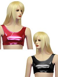 Wet Look Shiny Lycra Crop Top