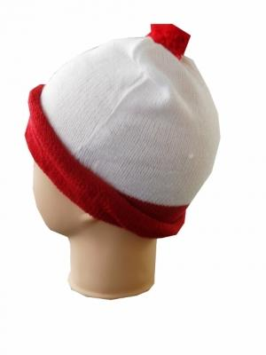 Knitted Red White Hat