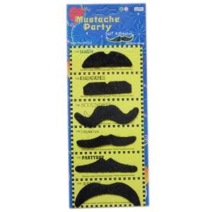 Black Mustache Party (6 Pcs)