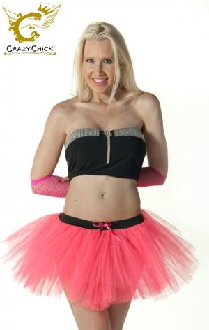 Crazy Chick 3 Layers Plain Pink TuTu Skirt