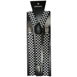 Police Checkered Printed Braces