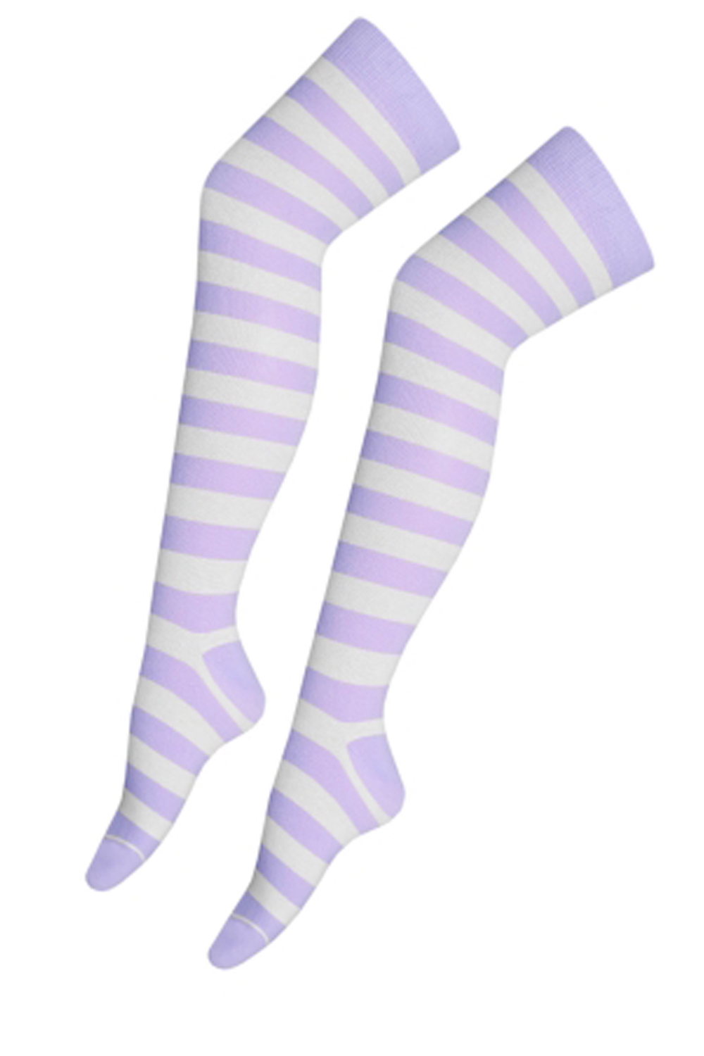 Light Purple & White OTK Stripe Socks (12 Pairs)