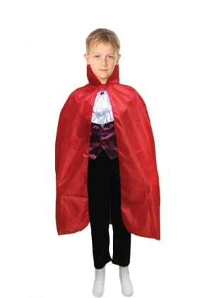 Red Halloween Children Carded Cape Costume (34 Inches)