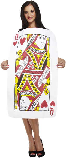 Adult Playing Card Queen of Hearts