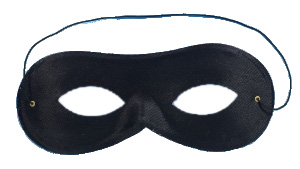 Black Domino Shape Cloth Eye Mask (Pack of 12)