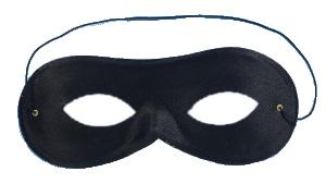 Black Domino Shape Cloth Eye Mask Cloth