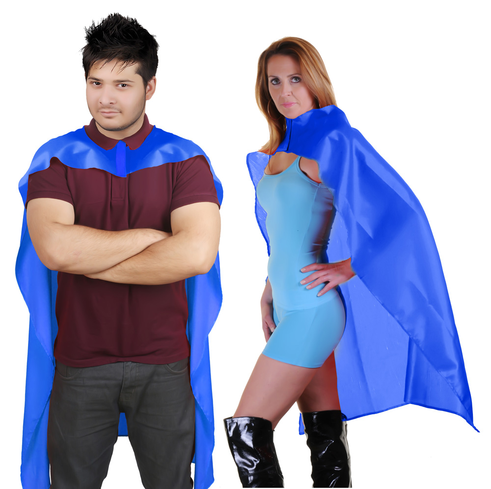 Wicked Fun Blue Deluxe Satin Cape