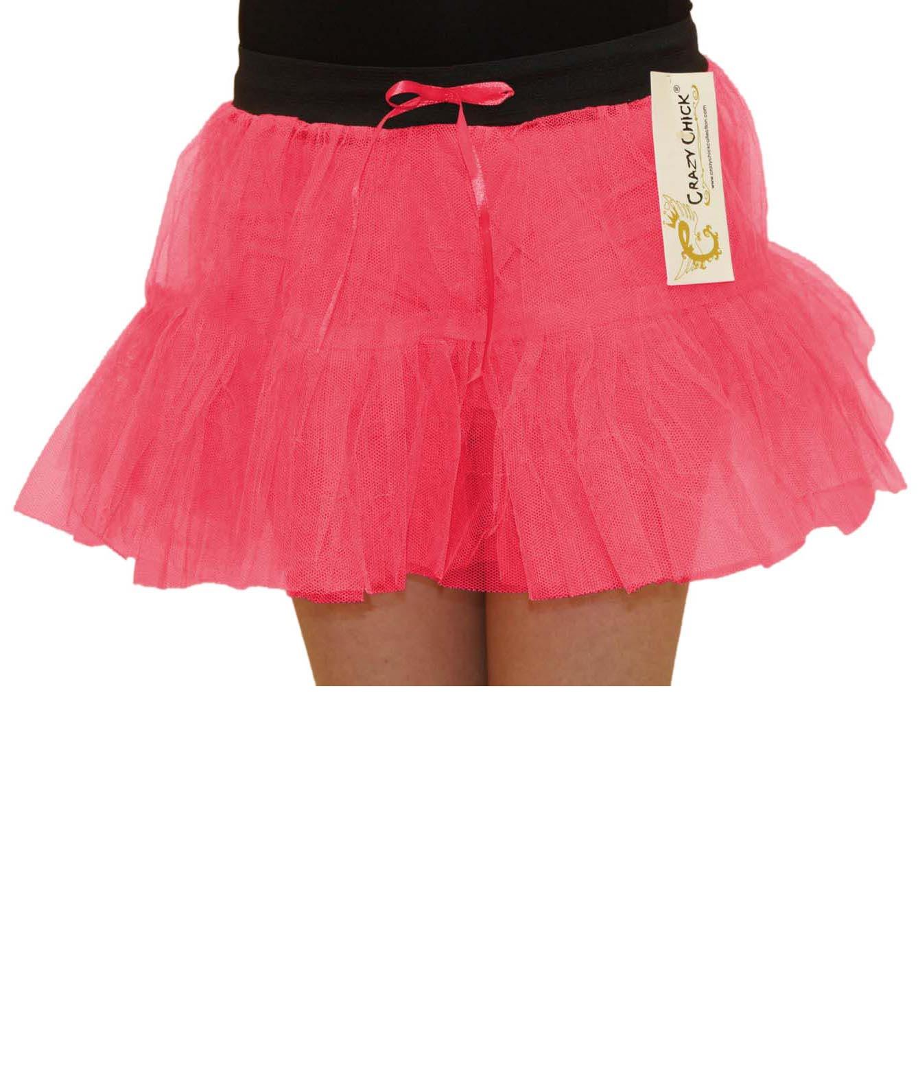 Crazy Chick Girls 2 Layers Pink TuTu Skirt