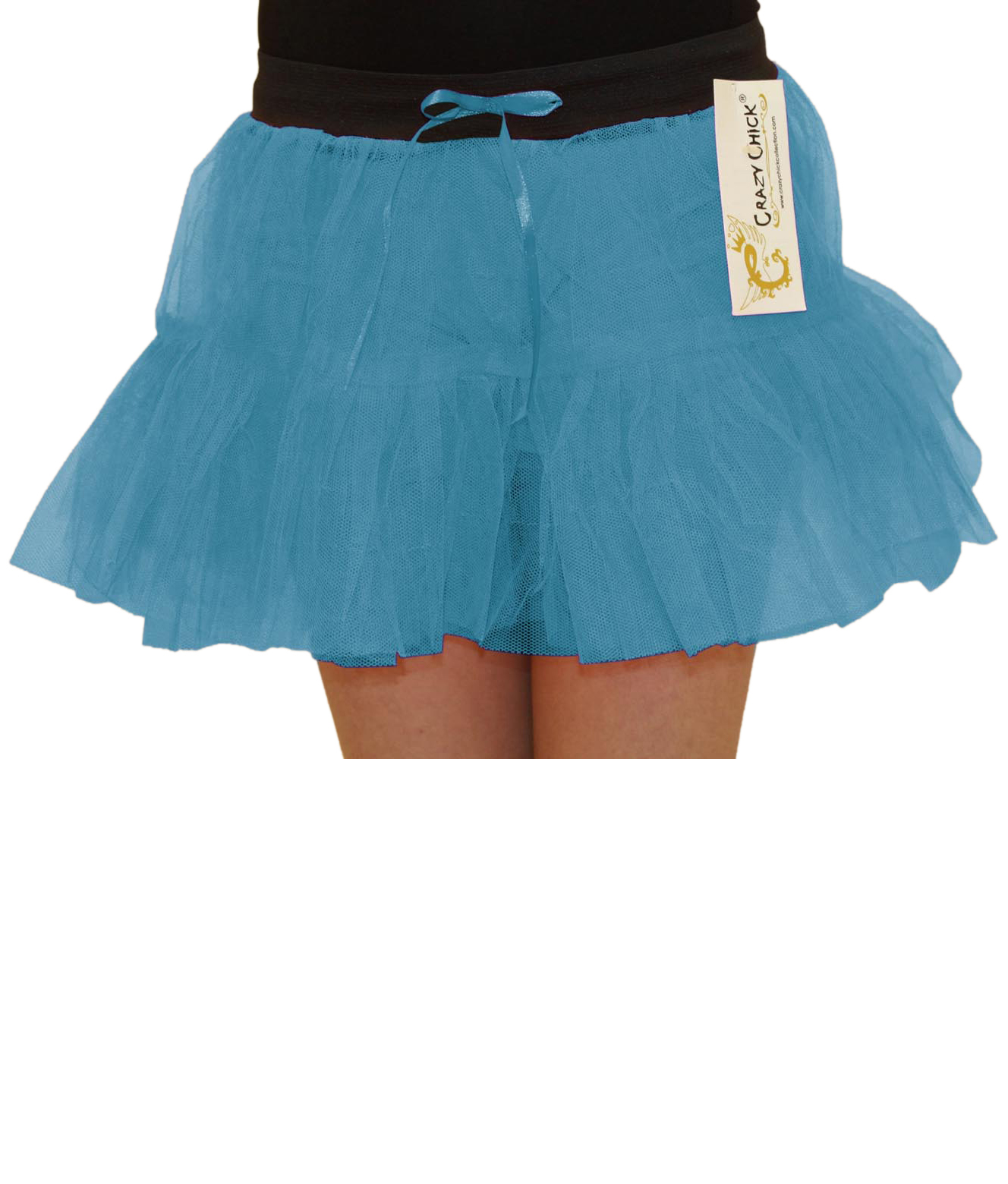 Crazy Chick Girls 2 Layers Turquoise TuTu Skirt