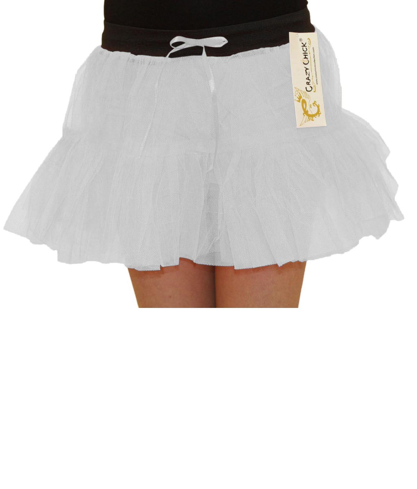 Crazy Chick Girls 2 Layers White TuTu Skirt