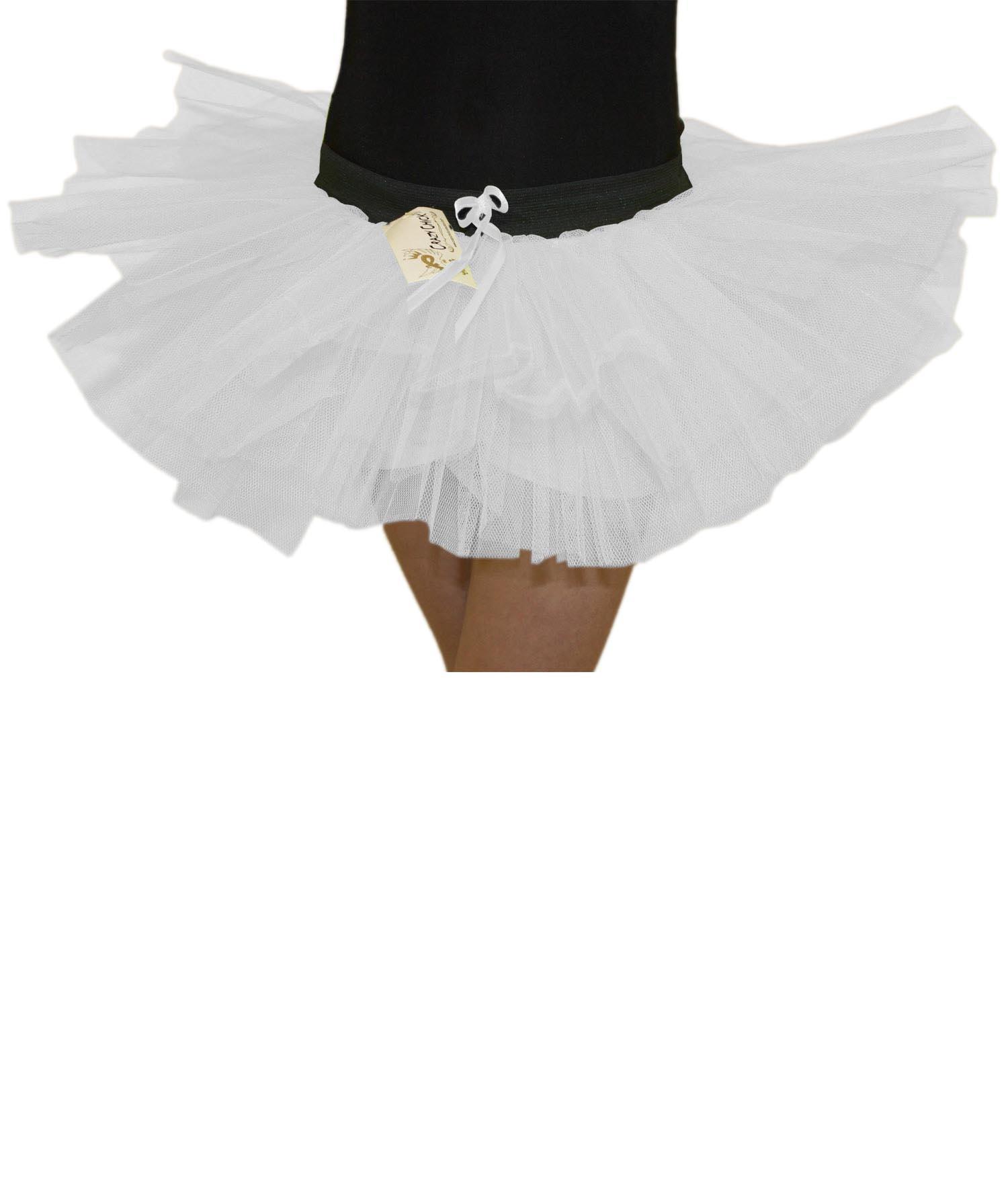 Crazy Chick Girls 3 Layers White Angel TuTu Skirt