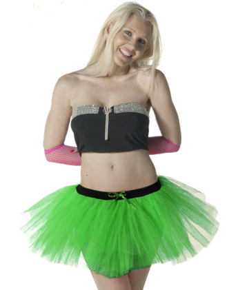 Crazy Chick 3 Layers Green TuTu Skirt