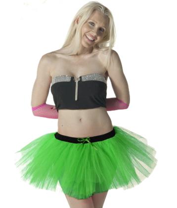 Crazy Chick 3 Layers Green TuTu Skirt
