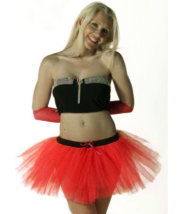 Crazy Chick 3 Layers Red Devil TuTu Skirt