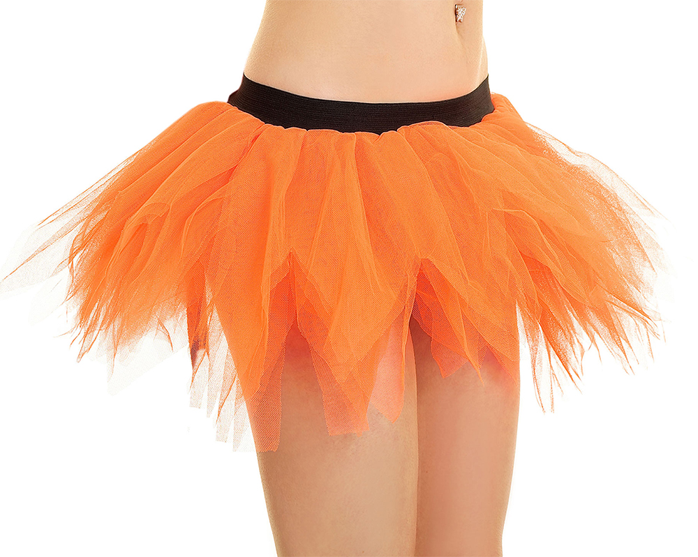 Crazy Chick 6 Layer Orange Petal Pumpkin TuTu Skirt