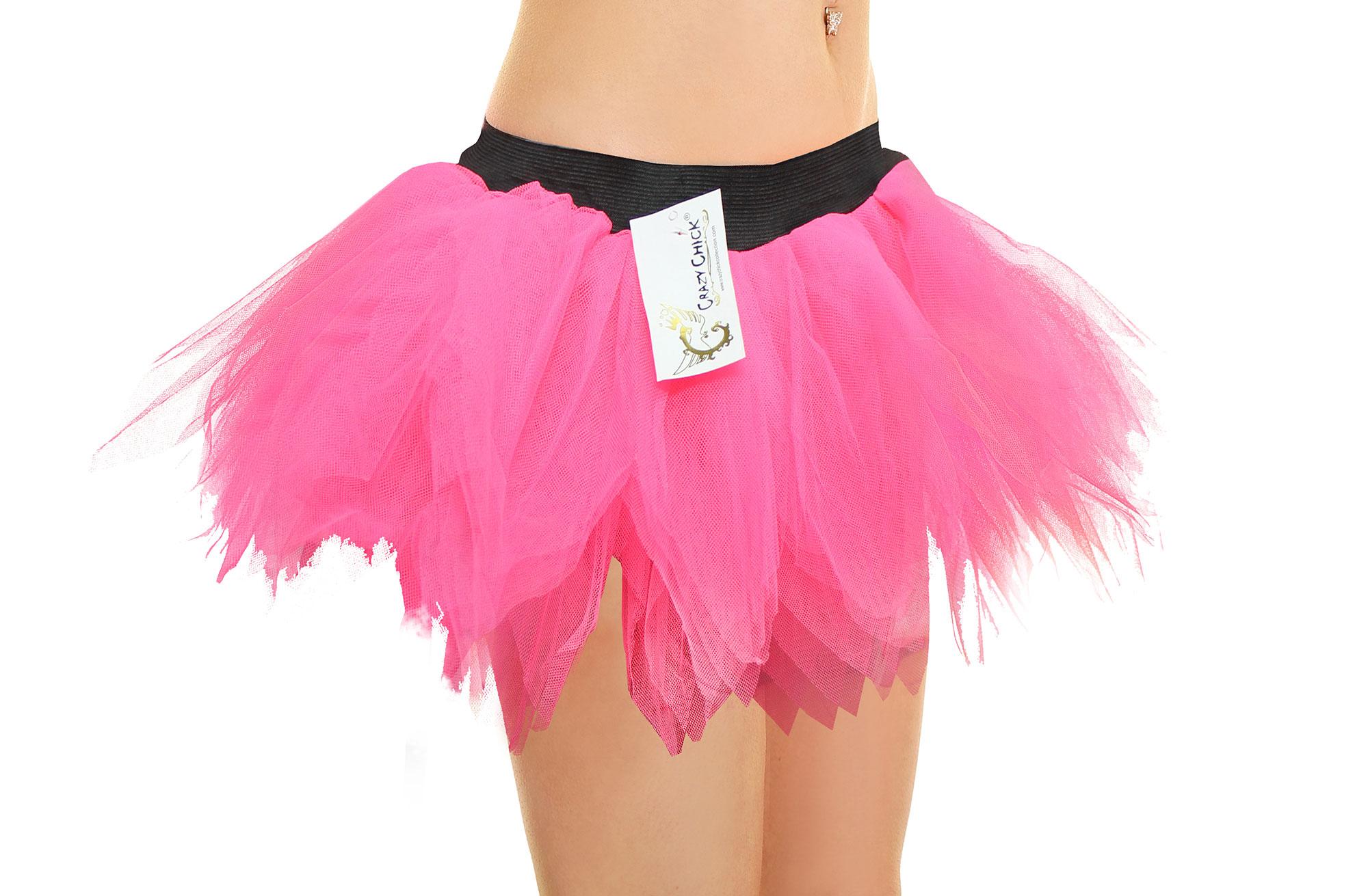 Crazy Chick 6 Layer Pink Petal TuTu Skirt