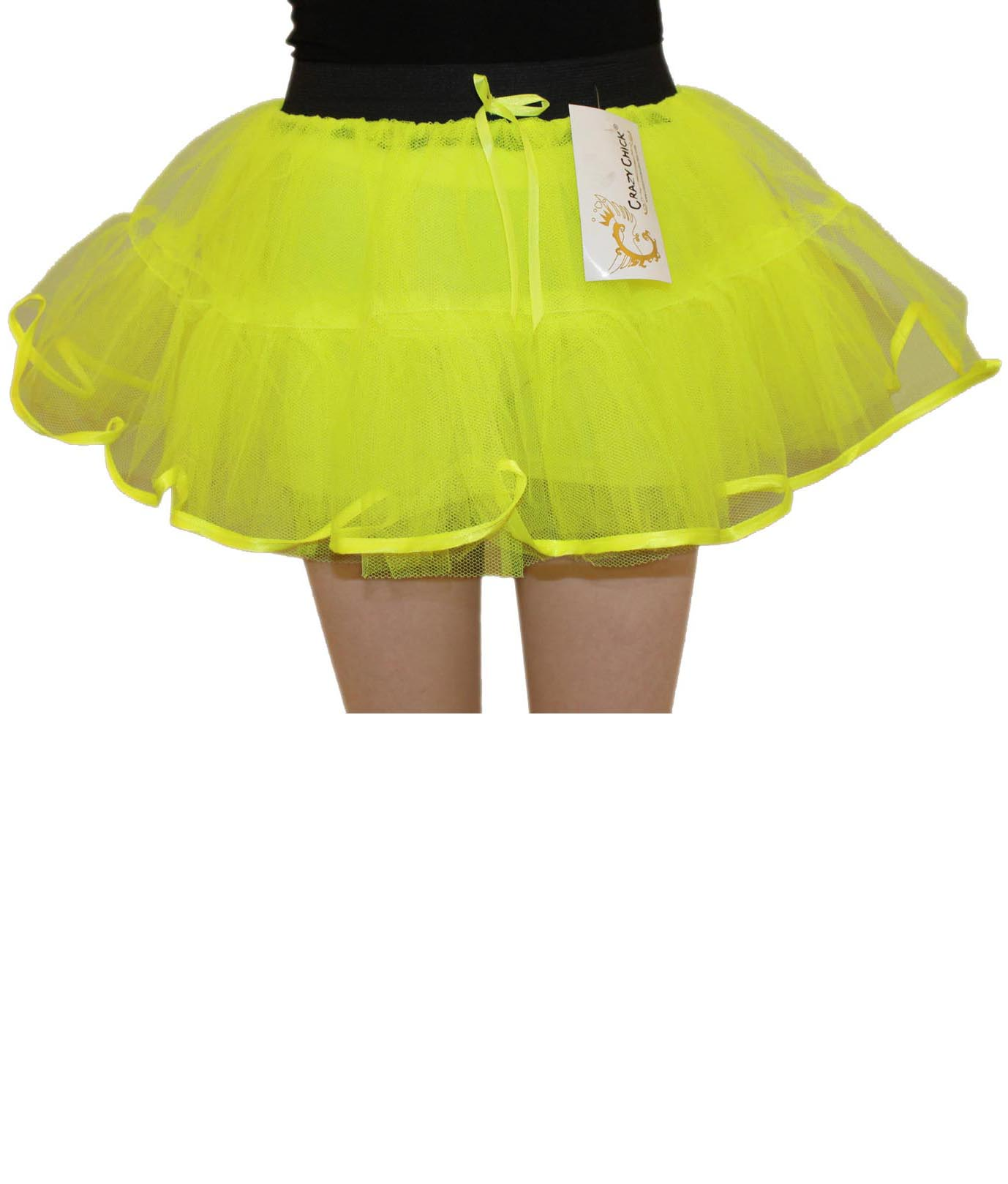 Crazy Chick Girls 4 Layers Yellow TuTu Skirt