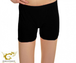 Girls Microfiber Black Hot Pants