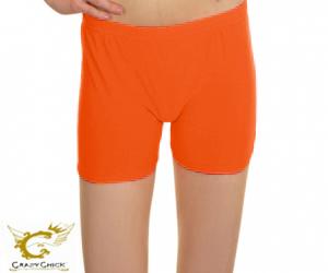 Girls Microfiber Neon Orange Hot Pants