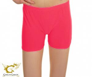 Girls Microfiber Neon Pink Hot Pants