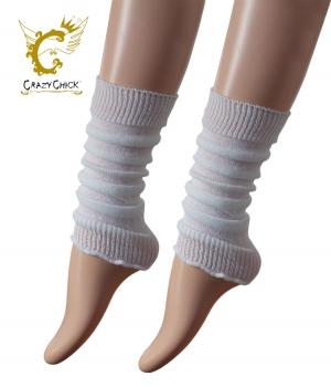 Girls White Leg Warmer