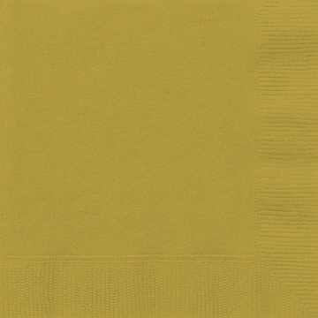 Gold Plain Lunch Napkins (Pack of 20)
