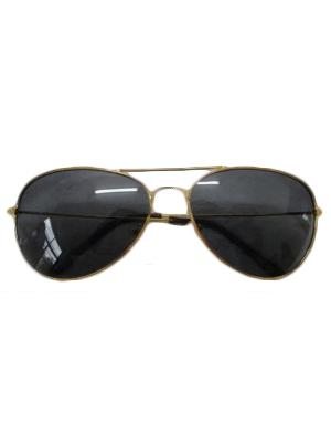 Gold Top Gun Style Sunglasses