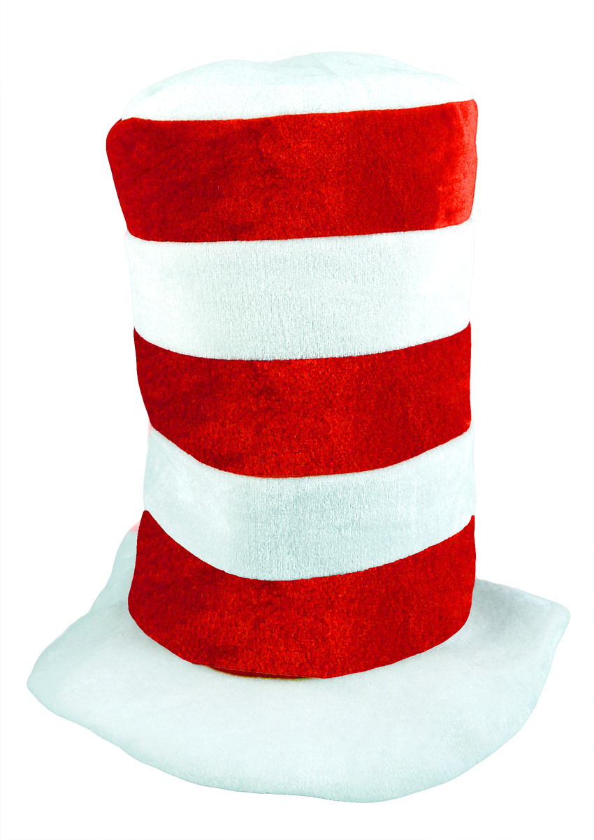 Hat Tall Red & White Adult