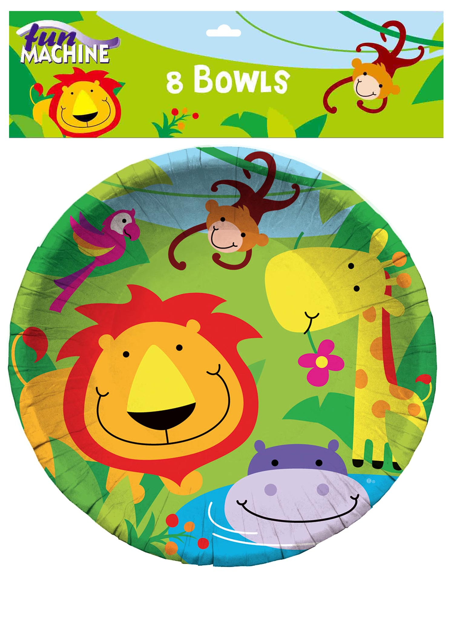 Jungle Party Bowls (Pack of 8)