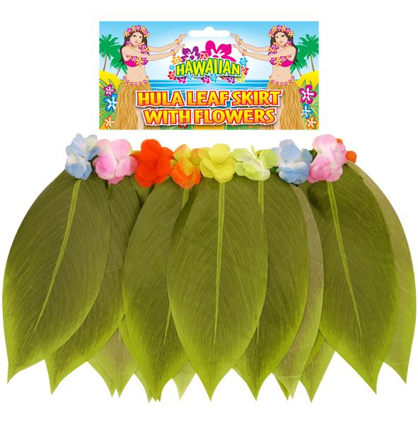 Leaf Hula Skirt With Flowers