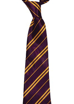 Maroon & Yellow Striped Neck Tie 9cm Wide