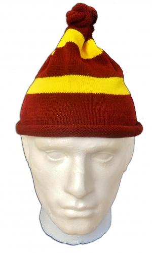 Maroon Yellow Hat