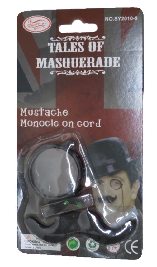 Mustache Monocle On Cord