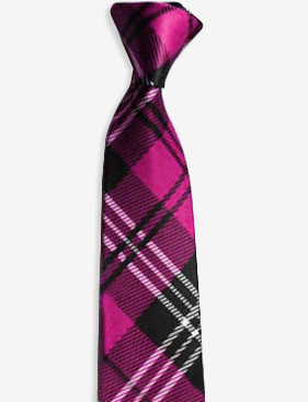 Pink Tartan Neck Tie