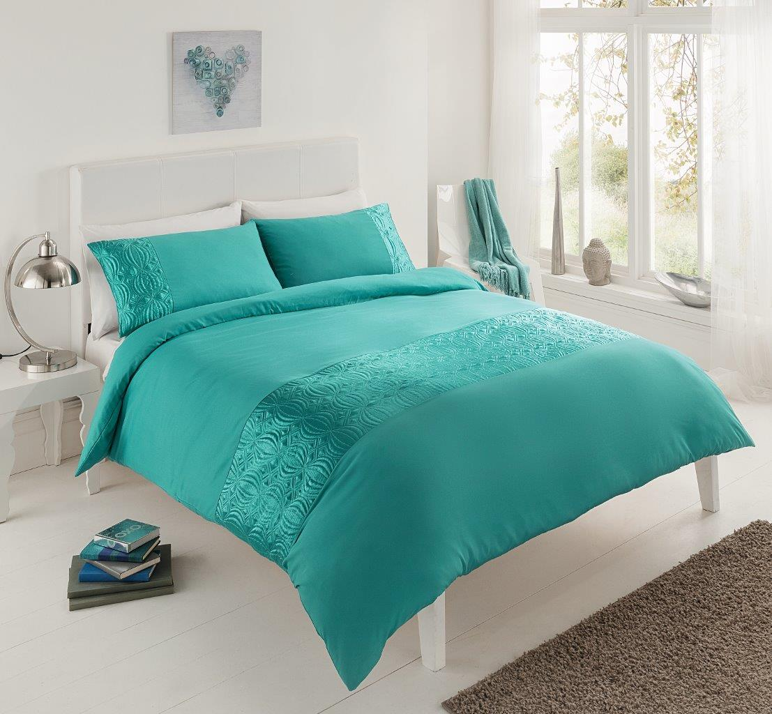 Pure duvet set teal Teal bedding sets