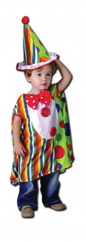 Rainbow Clown Toddler Costume