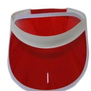 Red Poker Visor Hat (12 Pcs)