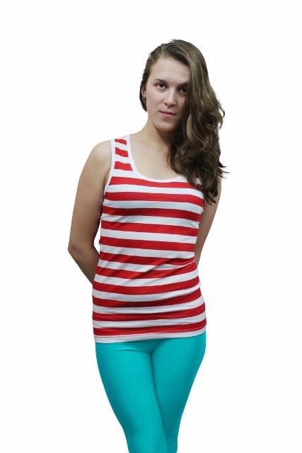 Red White Stripe Vest