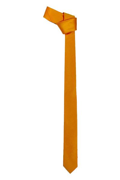 Satin Plain Orange Tie