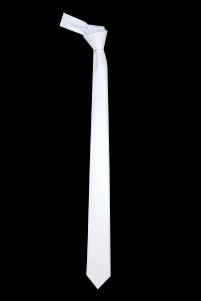 Satin Plain White Neck Tie