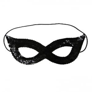 Sequin Black Face Masks