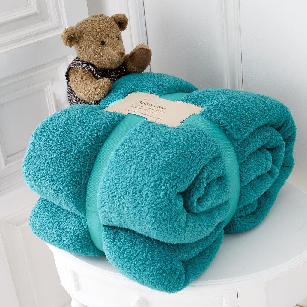 Teddy Collection Super Soft Throw Teal
