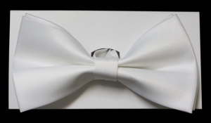 White Bow Tie with Gift Box