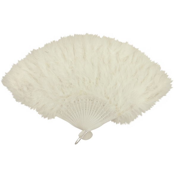 White Feather Fan