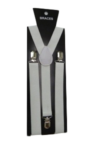 White Plain Braces (2.5 cm)