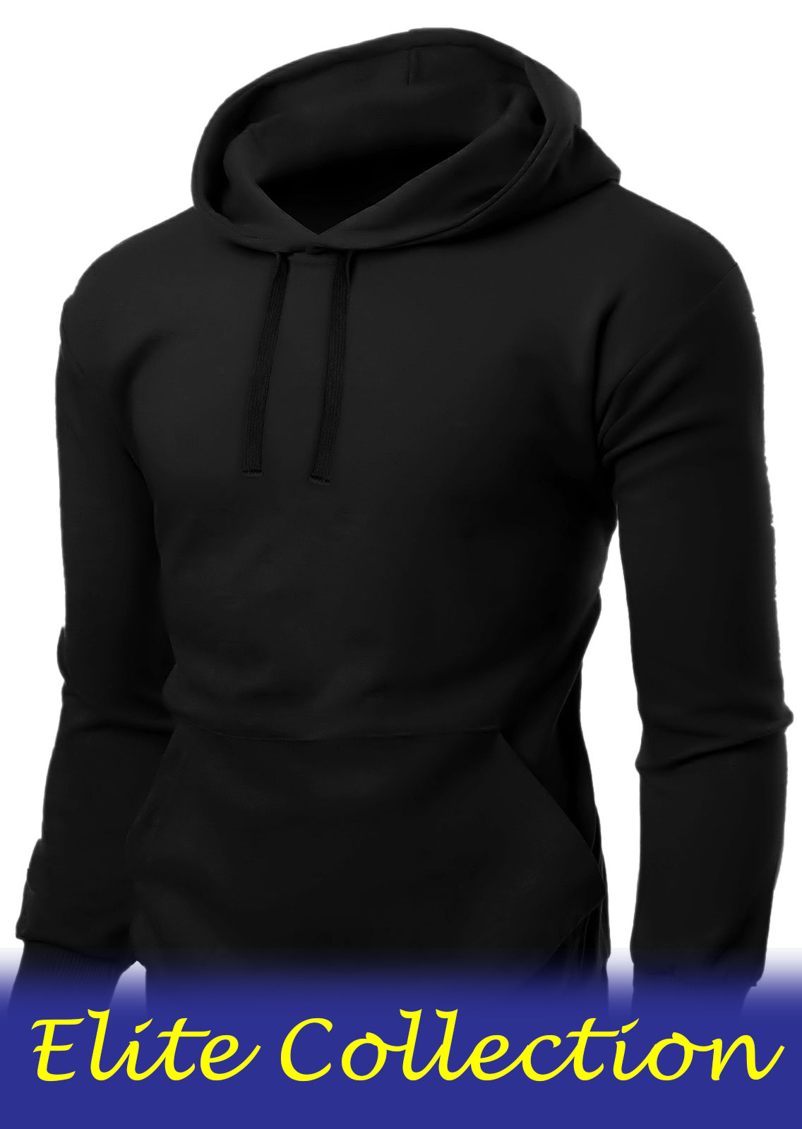 ACTIVE STAR Unisex Fleece Pullover Black Hoodie(Elite Collection)