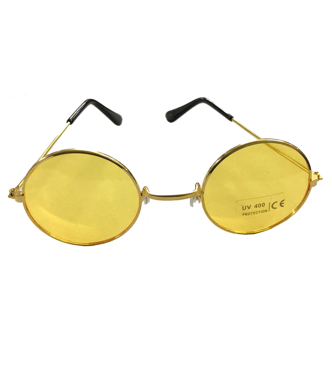 Adult Glasses Yellow Lense With Gold Frame
