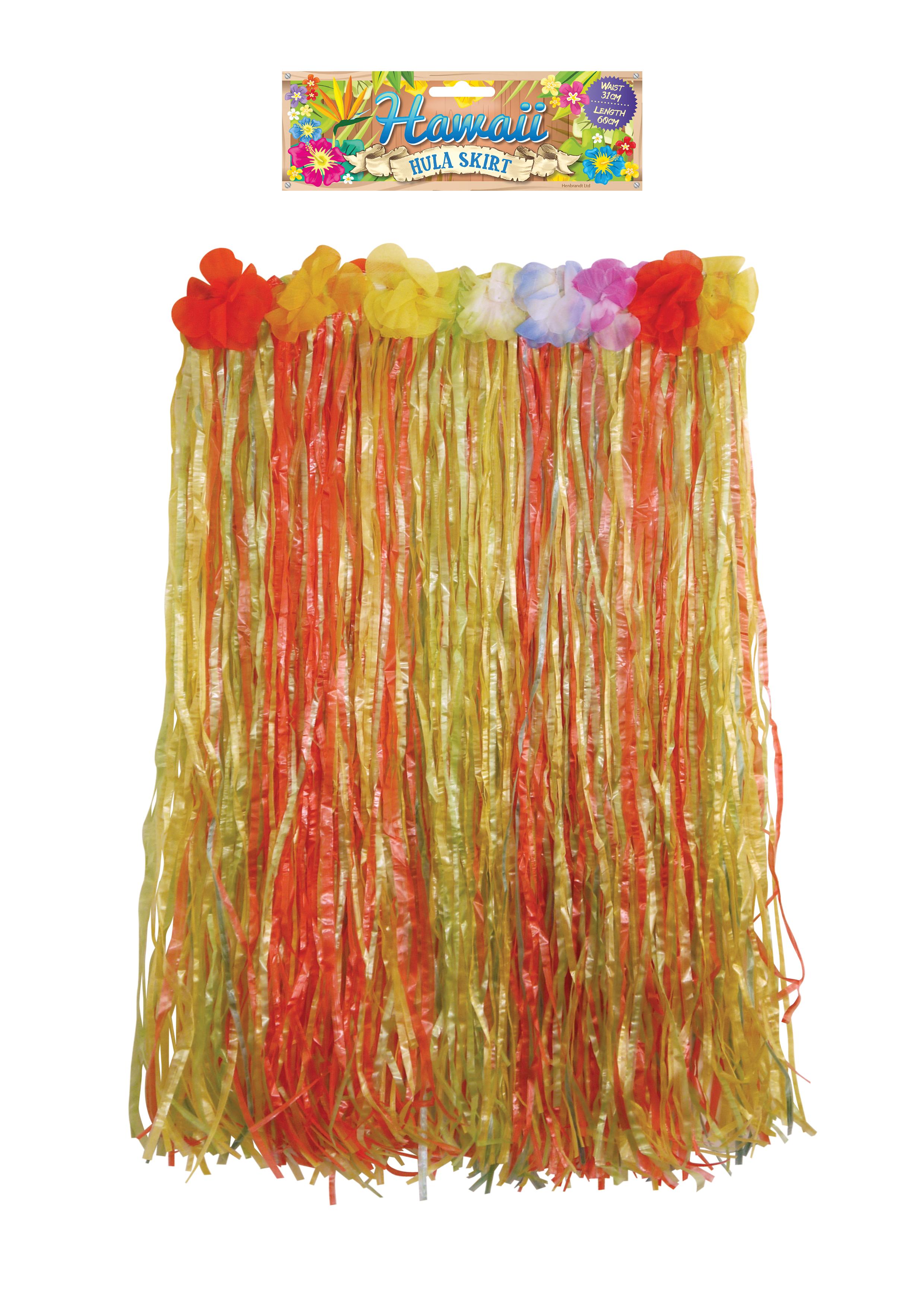 Adult Hula Skirt with Flowers 62cm W x 60cm L